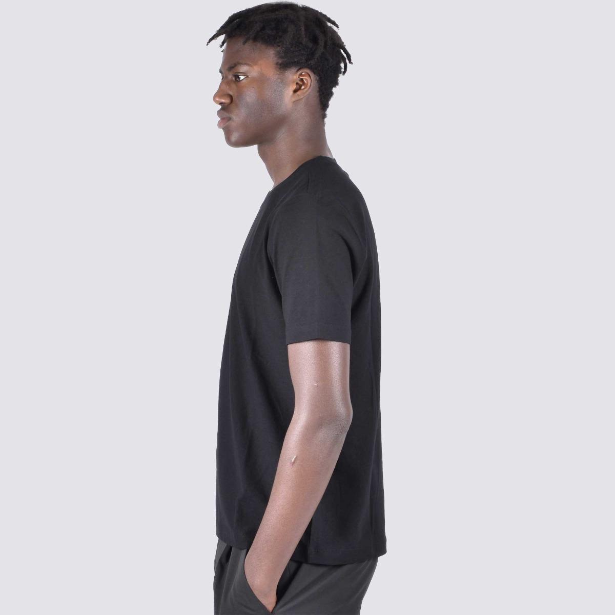 T-shirt mc fiammato - Nero