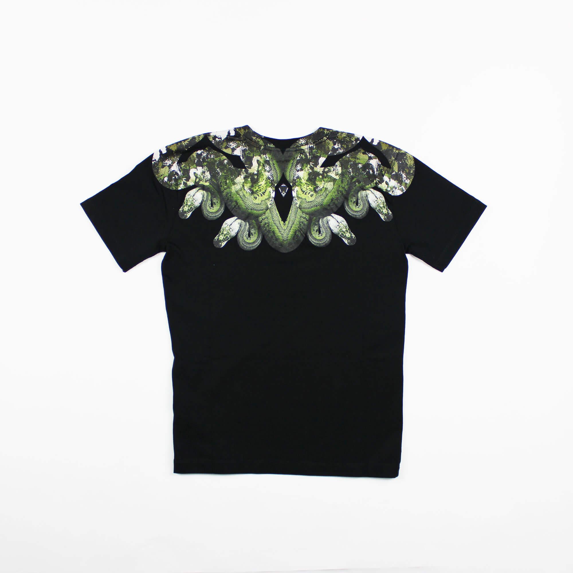 T-shirt camou snake - Nero