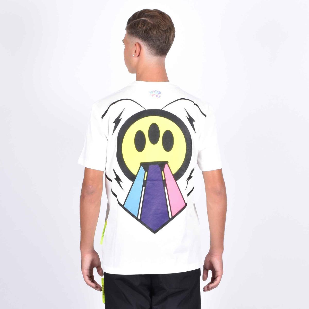 T-shirt cuore rainbow - Bianco
