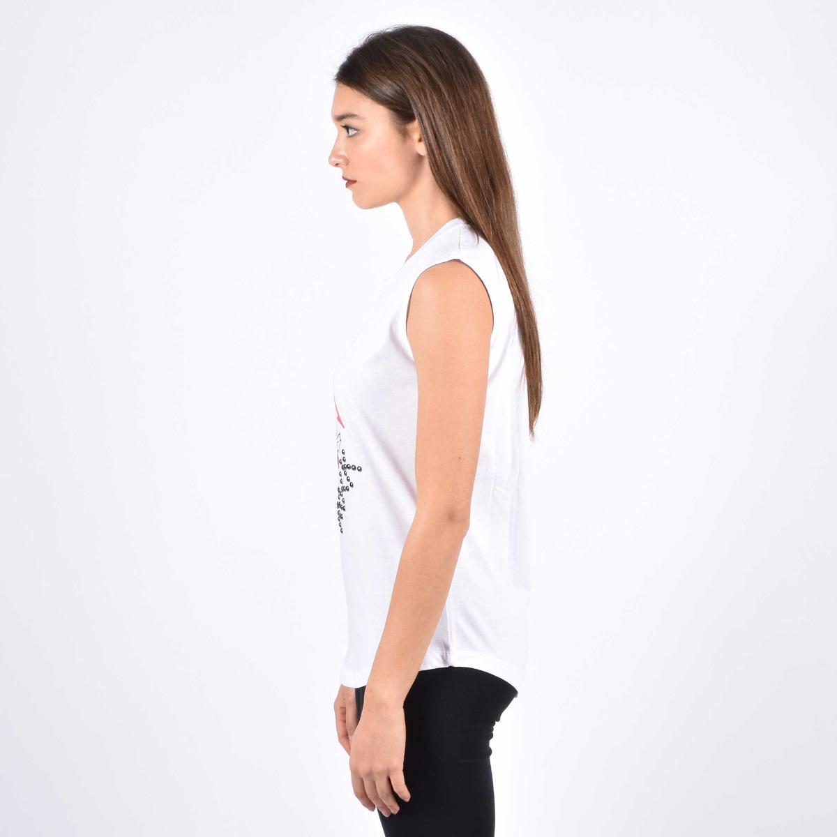 T-shirt  cuore rock - Bianco