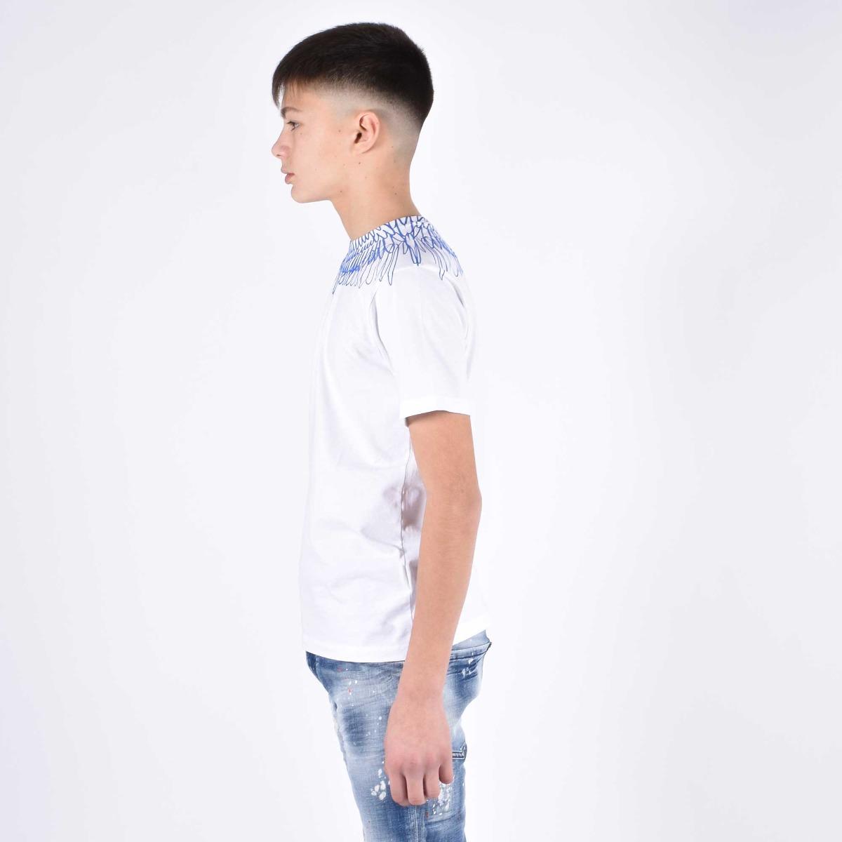 T-shirt fenice blu - Bianco