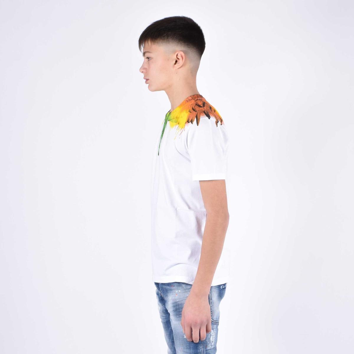 T-shirt fenice multicolore - Bianco