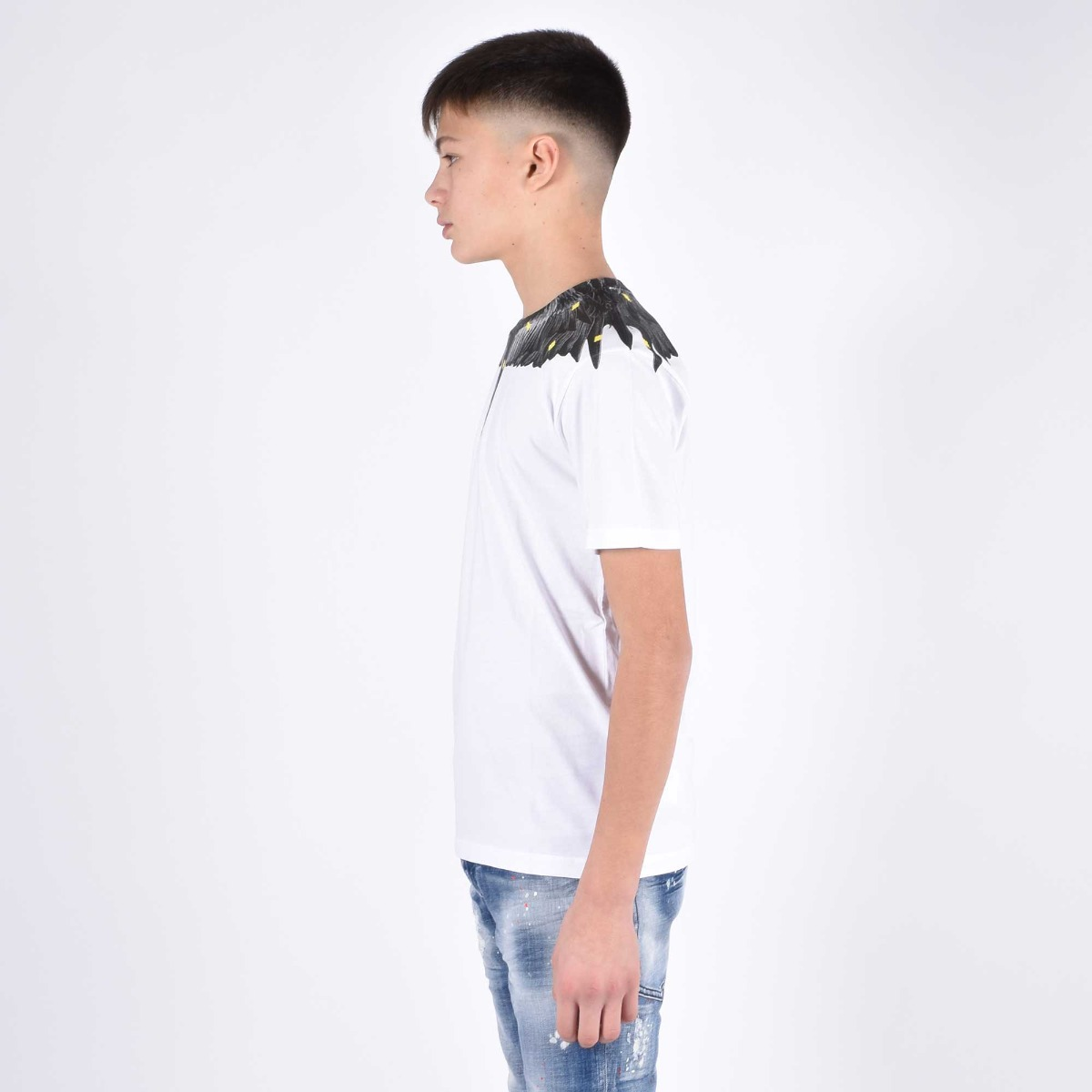 T-shirt fenice grigio - Bianco