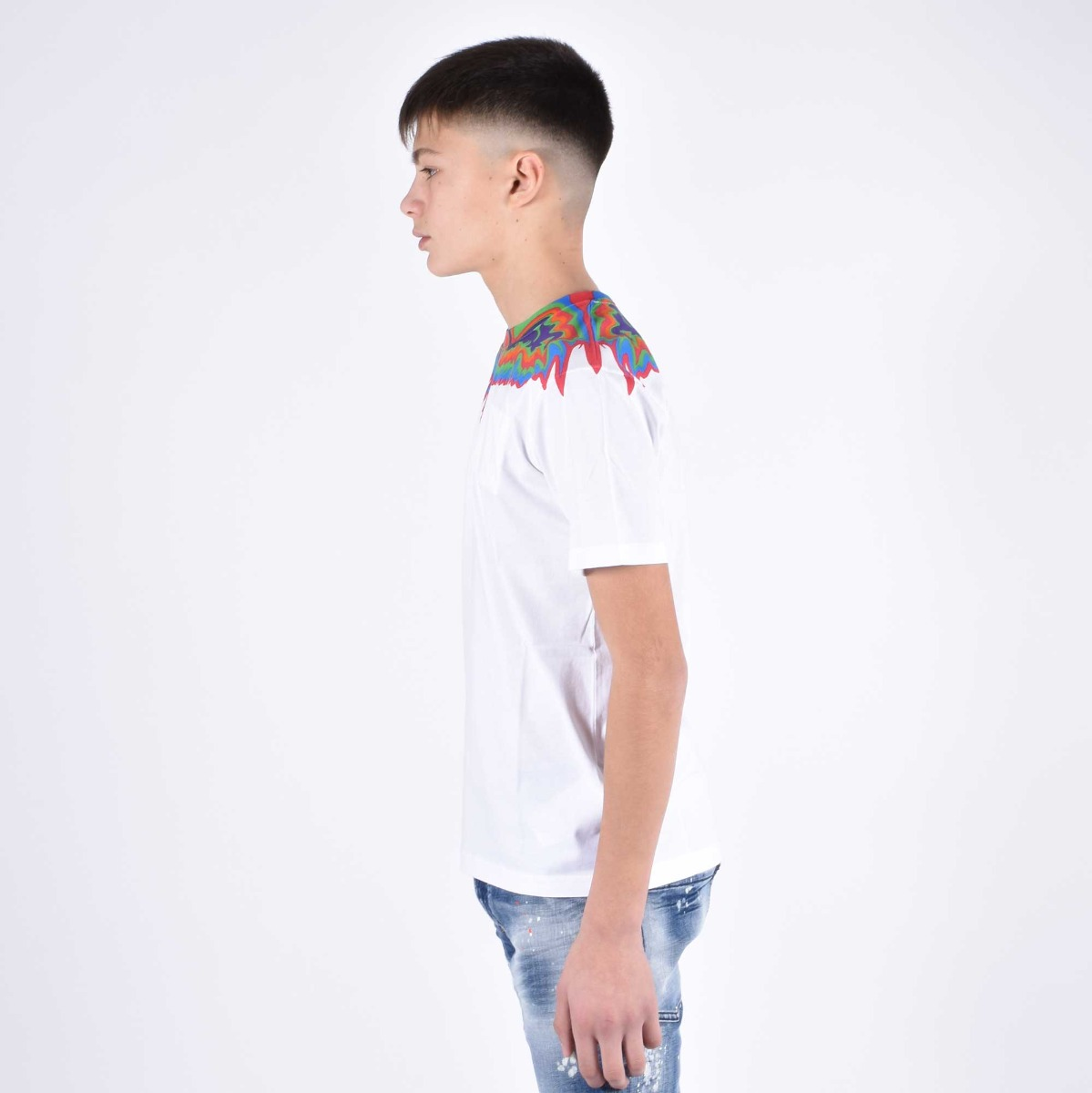 T-shirt fenice multicolor - Bianco