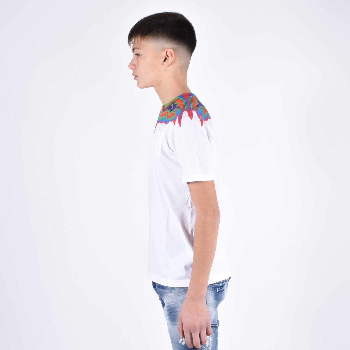 T-shirt fenice multicolor - Bianco
