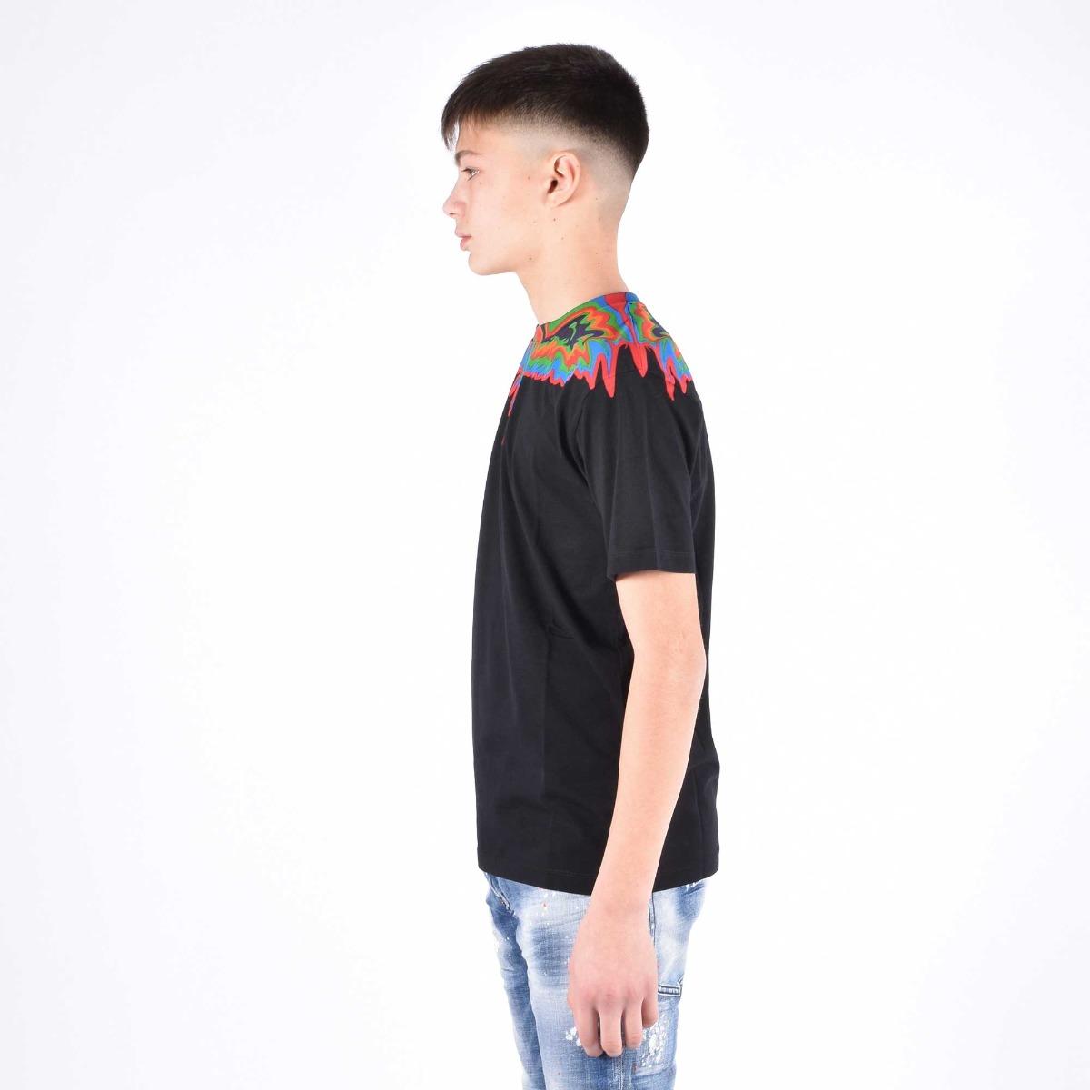 T-shirt fenice multicolor - Nero