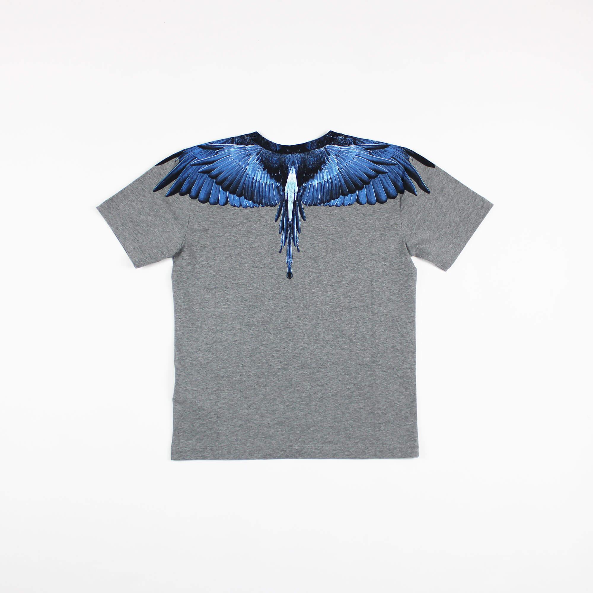 T-shirt blue wings - Grigio