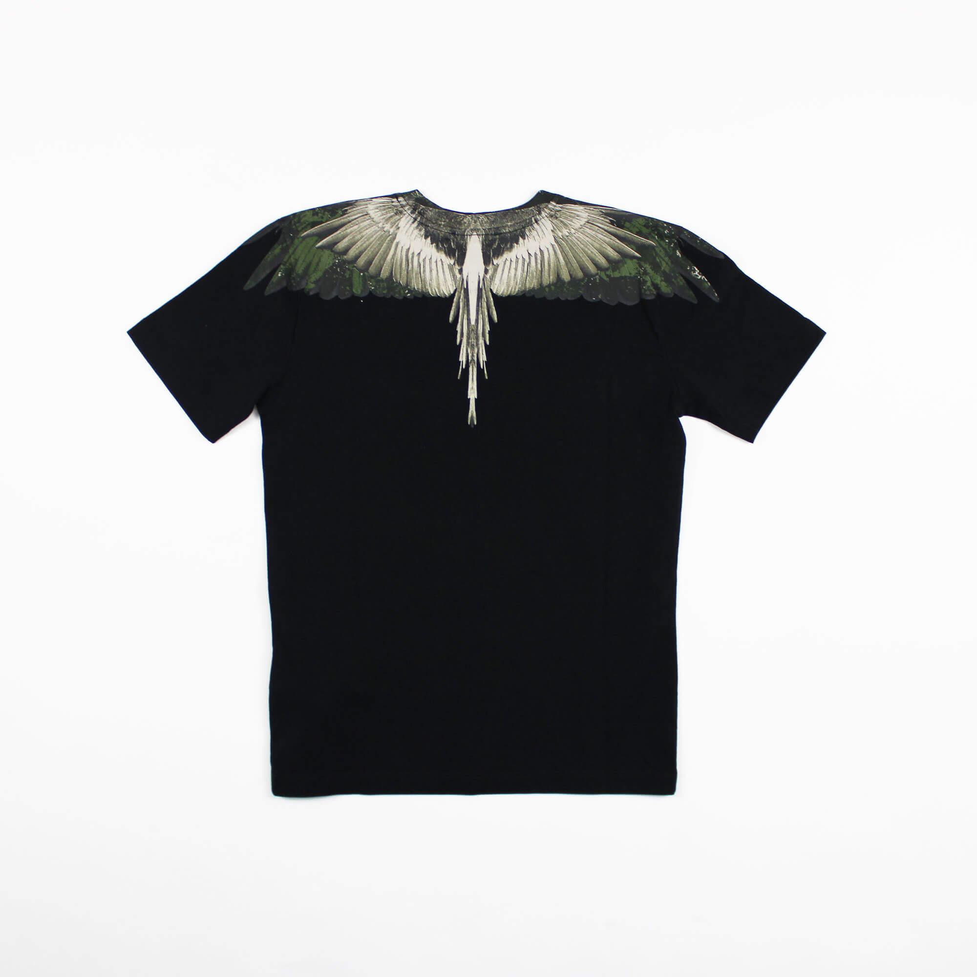 T-shirt camou wings - Nero