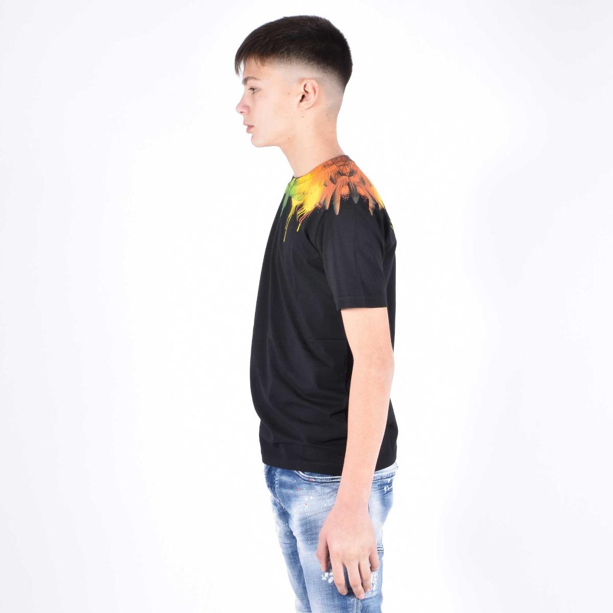 T-shirt fenice multicolore - Nero
