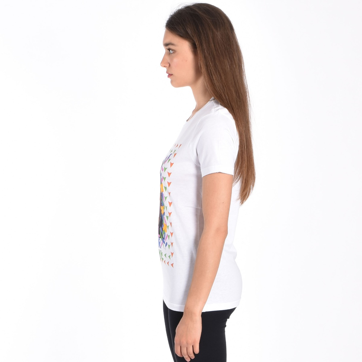 T-shirt girl power - Bianco