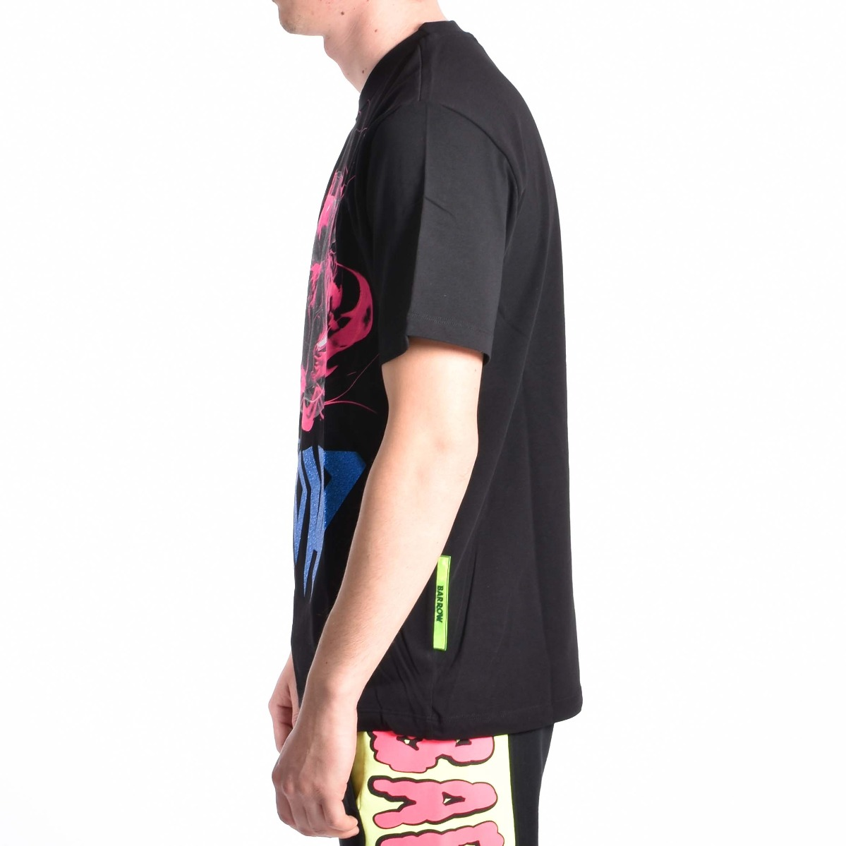 T-shirt Lamborghini infiammata - Nero/fuxia