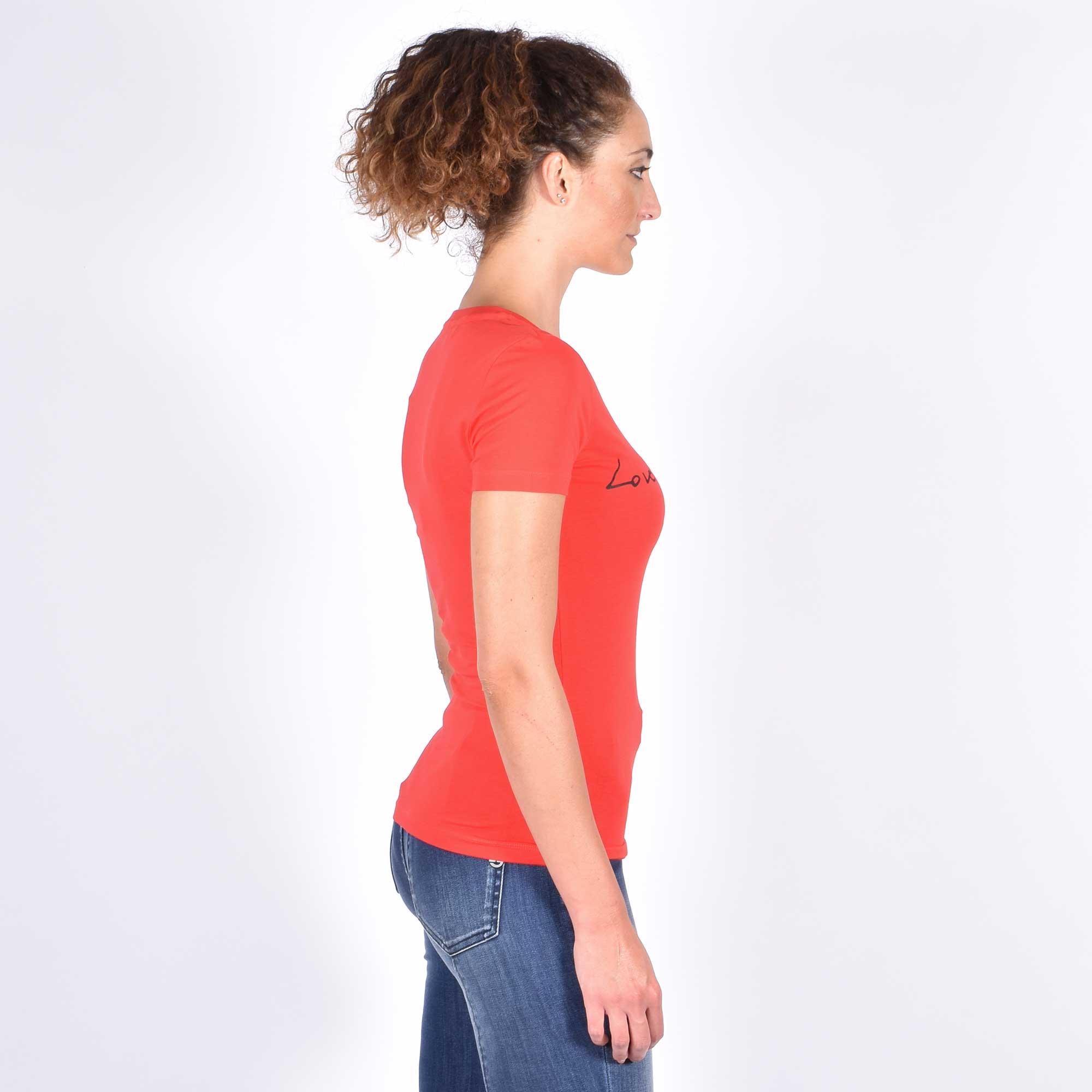 T-shirt logo corsivo - Rosso