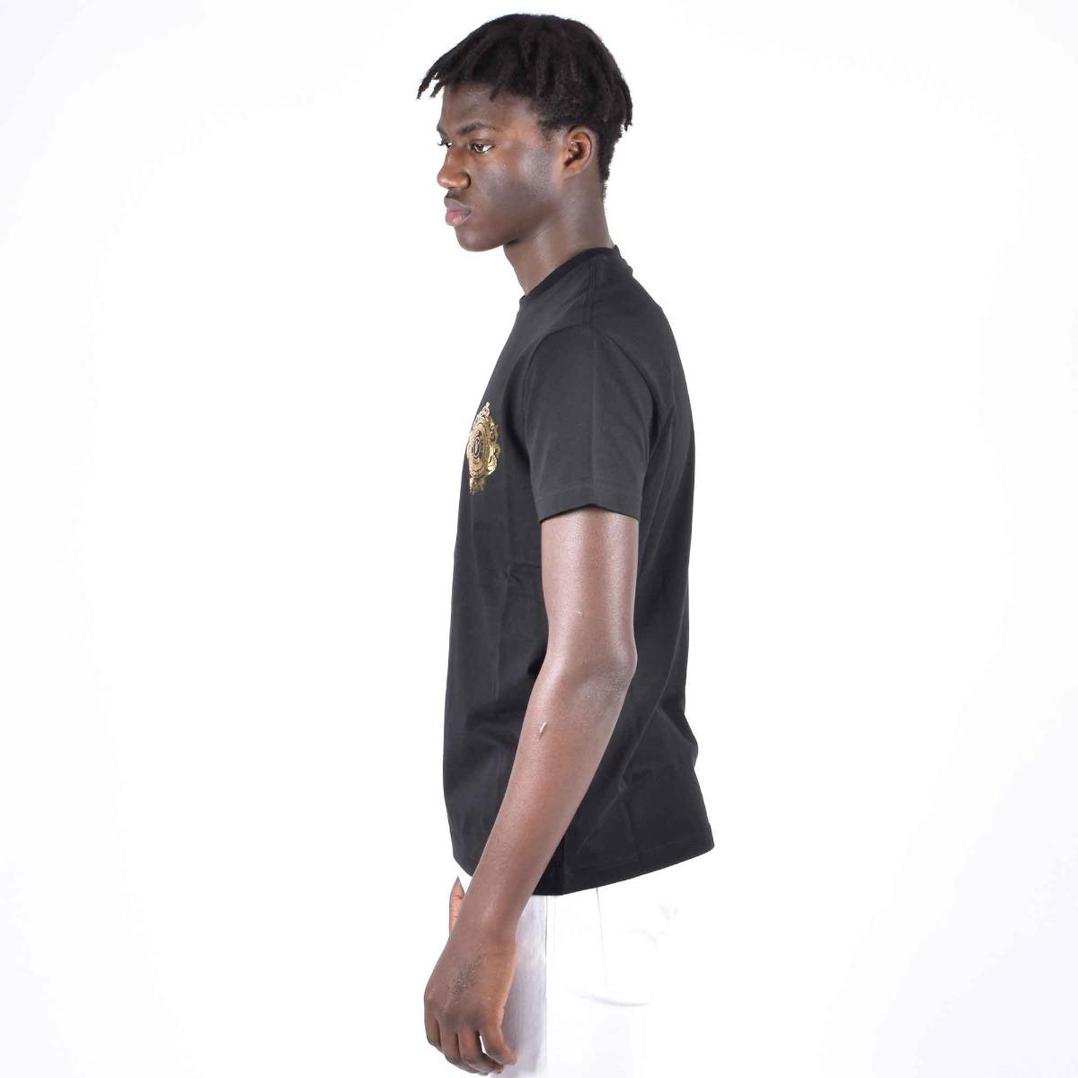 T-shirt logo piccolo a cerchio - Nero
