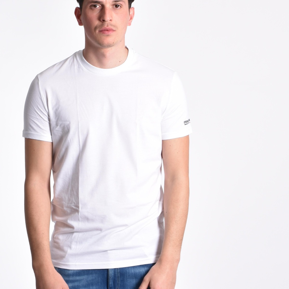 T-shirt logo manica - Bianco
