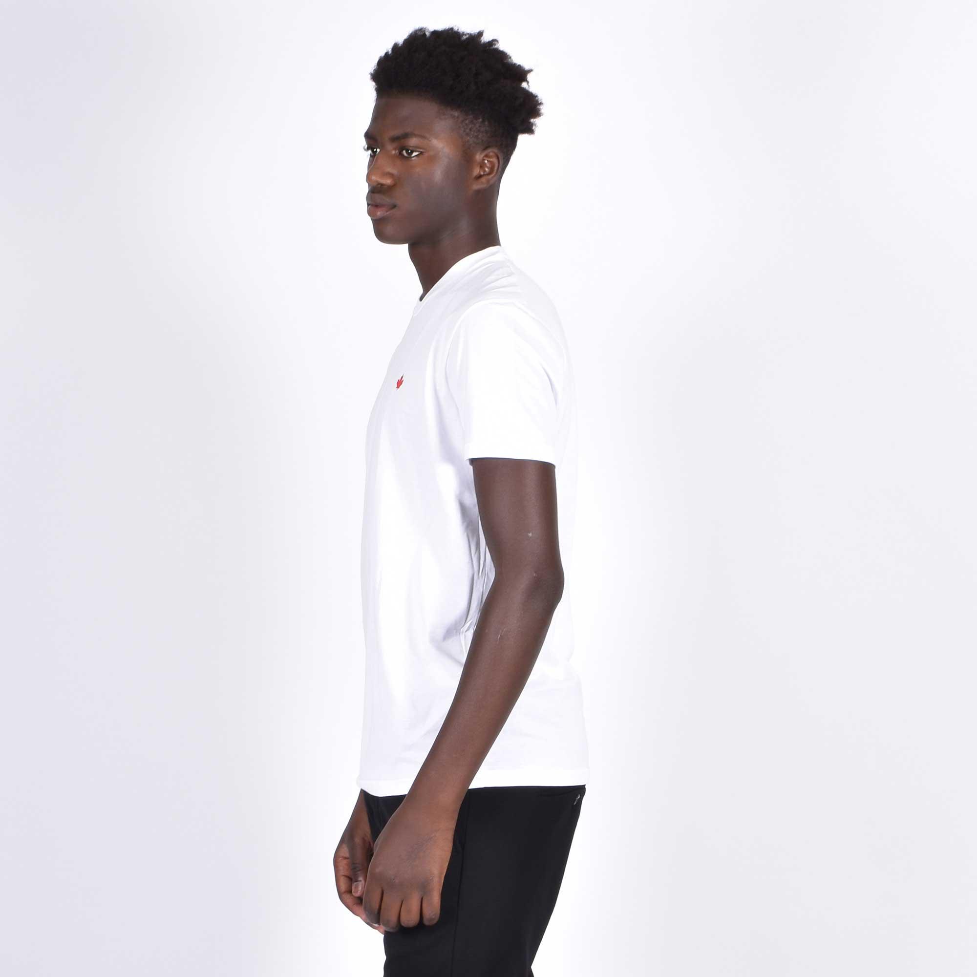 T-shirt loghino foglia acero - Bianco