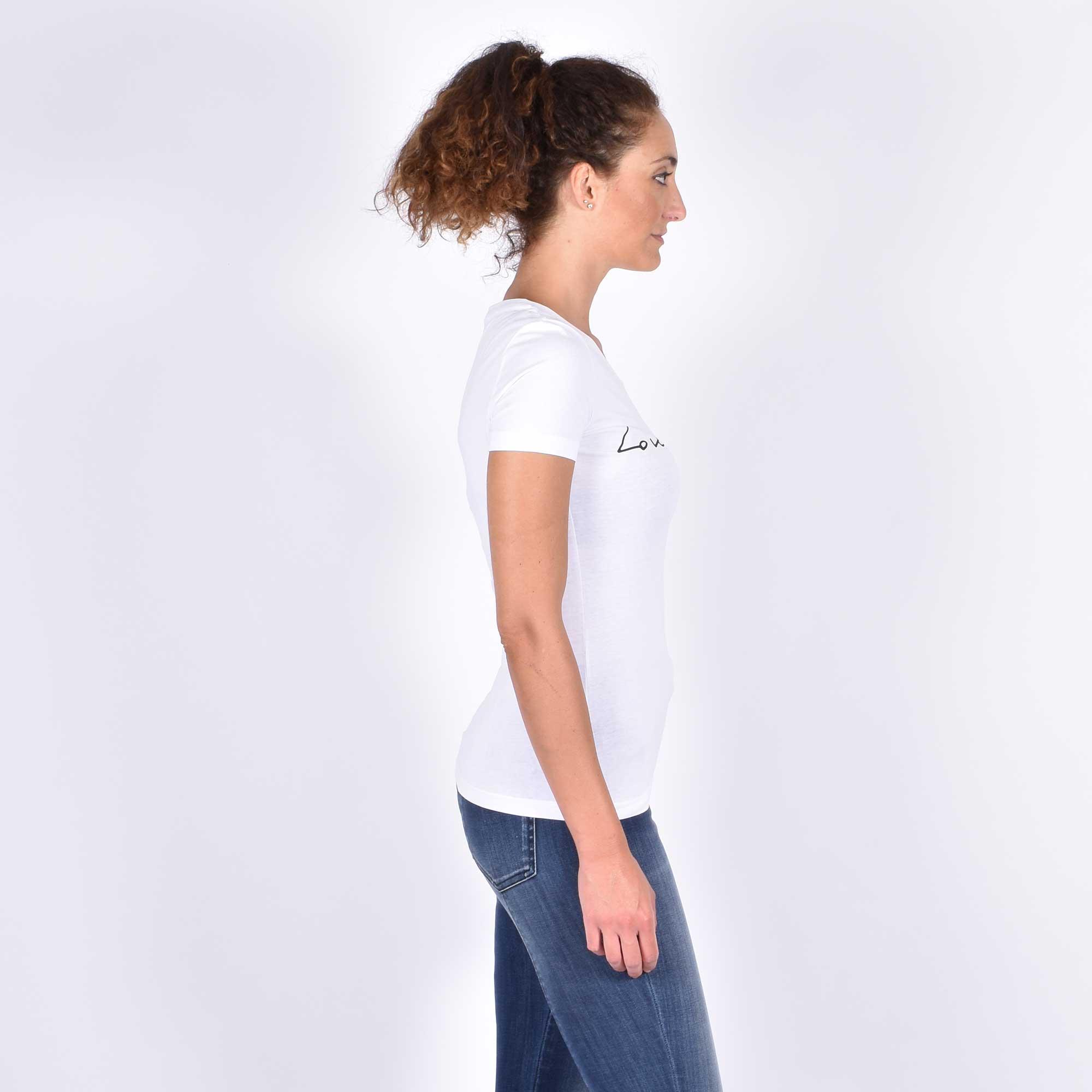 T-shirt logo corsivo - Bianco