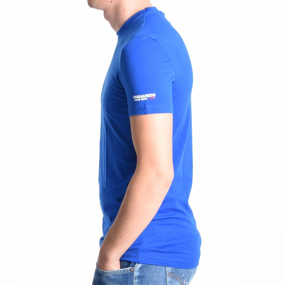 T-shirt logo manica - Blu