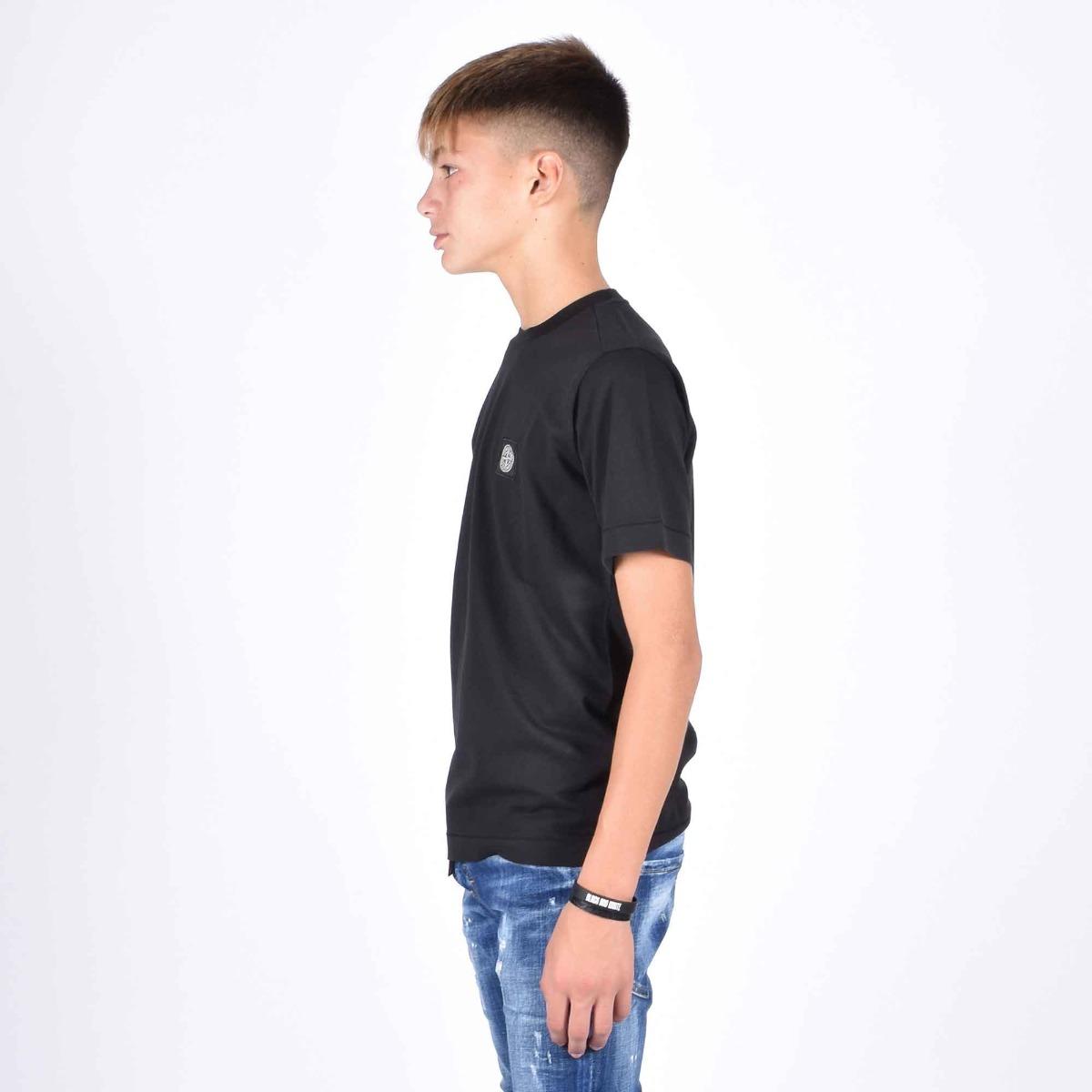 T-shirt logo cucito - Nero