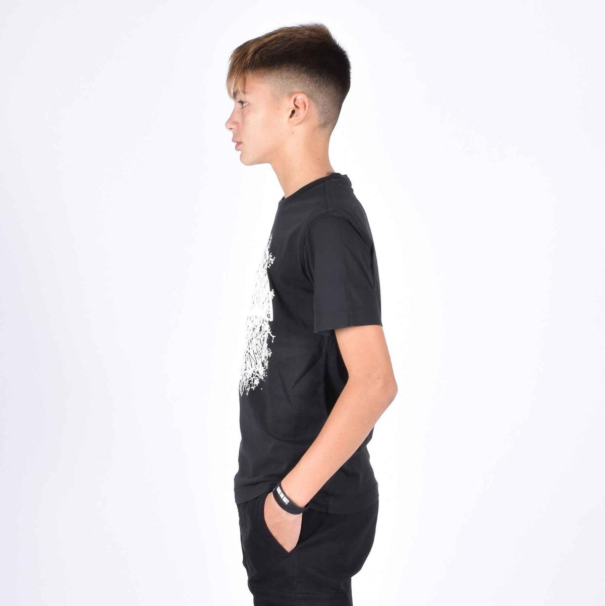 T-shirt logo stone - Nero