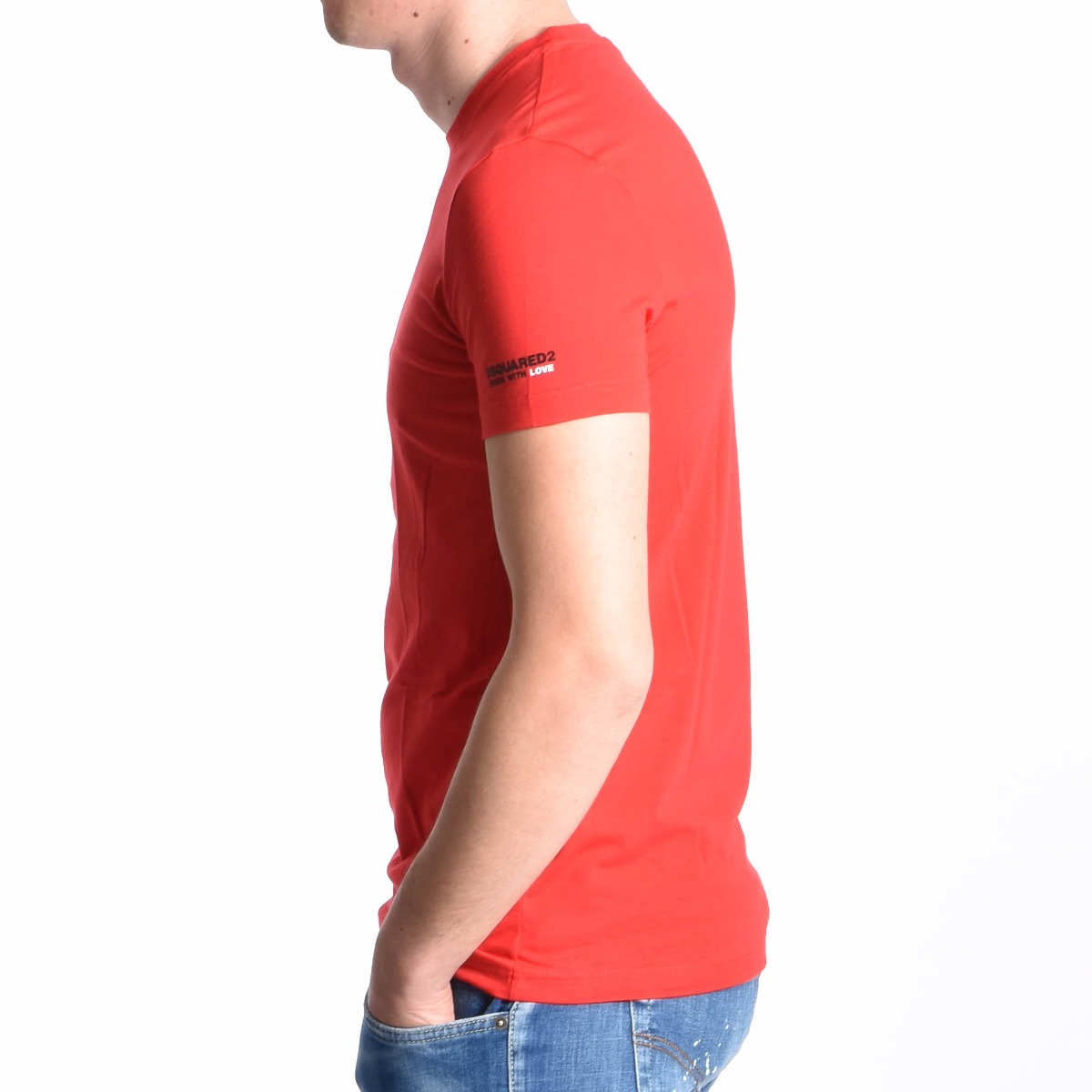 T-shirt logo manica - Rosso