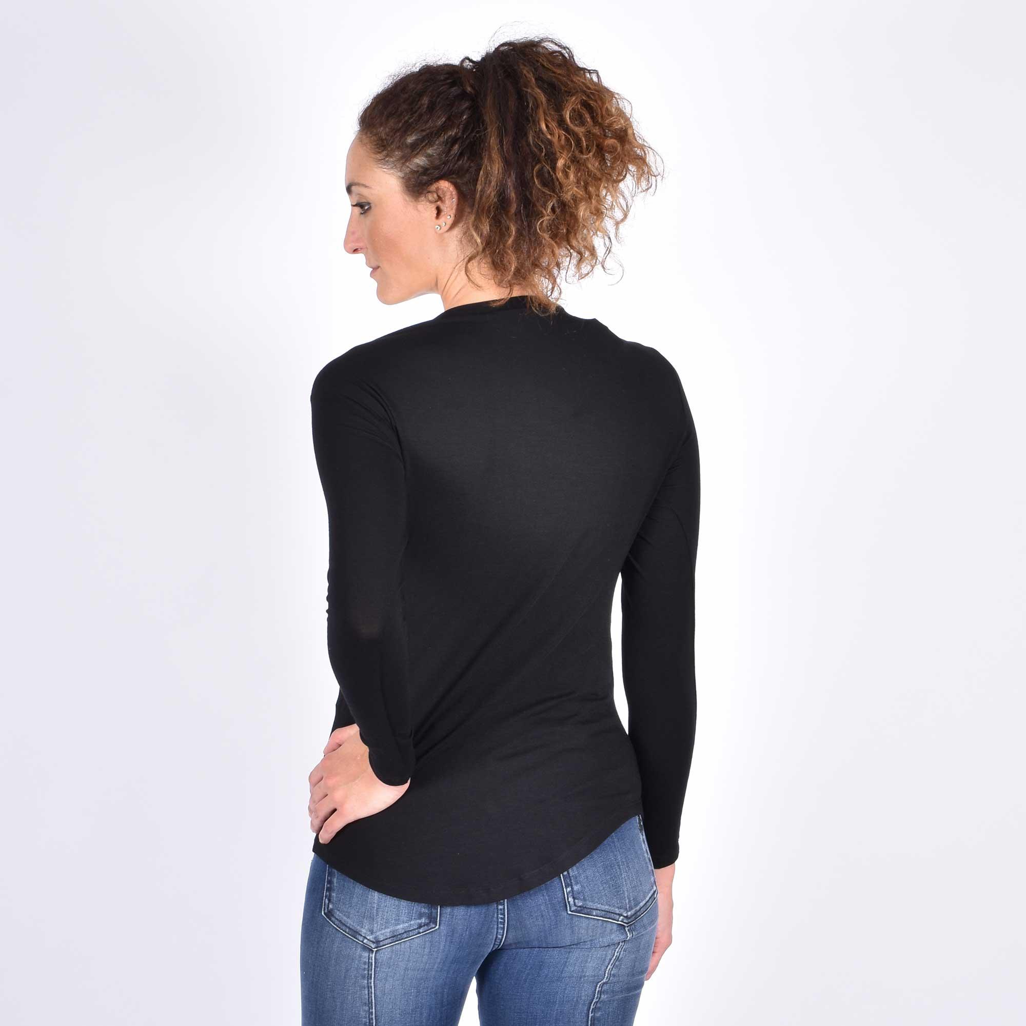 T-shirt logata bb oro - Nero