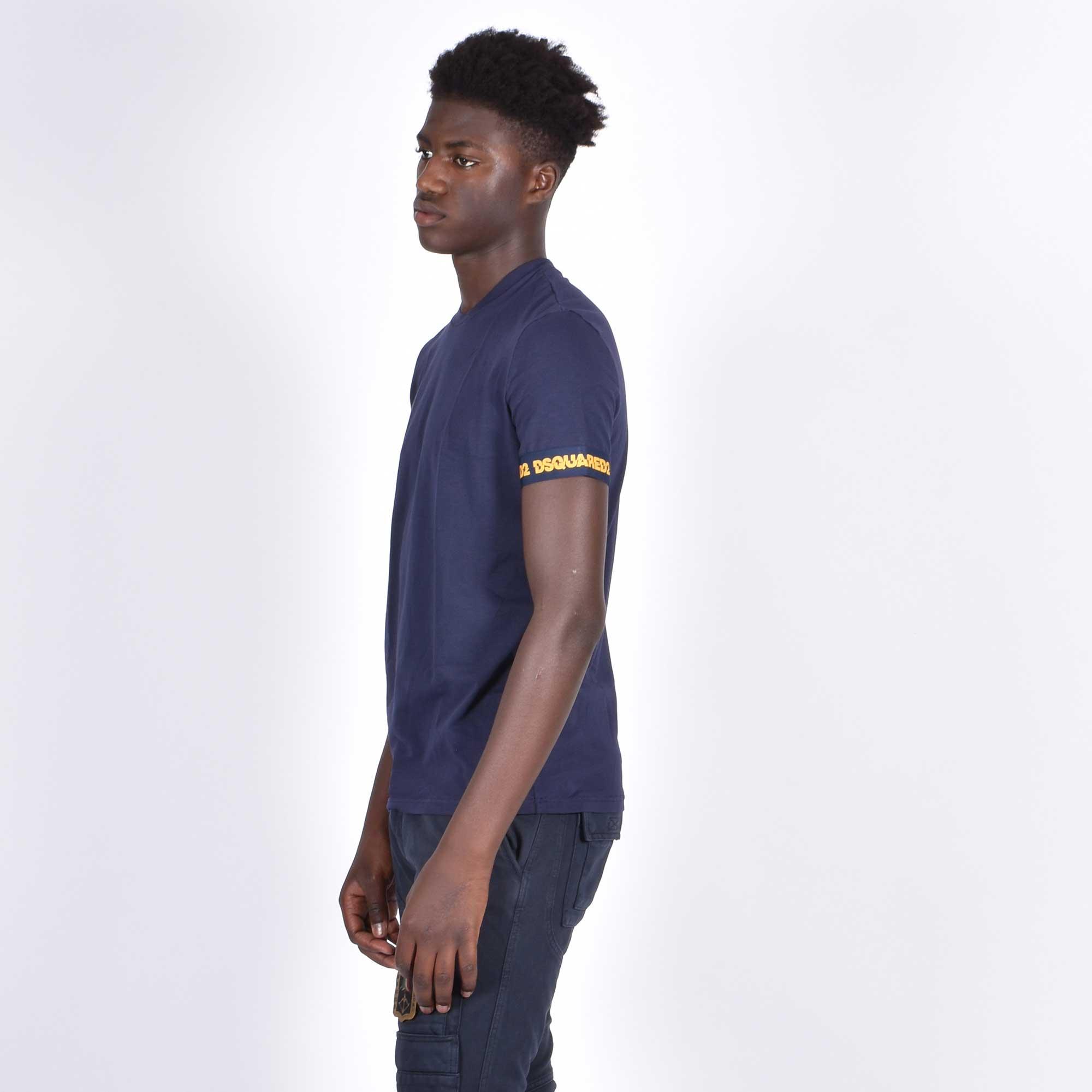 T-shirt logo braccio - Blu