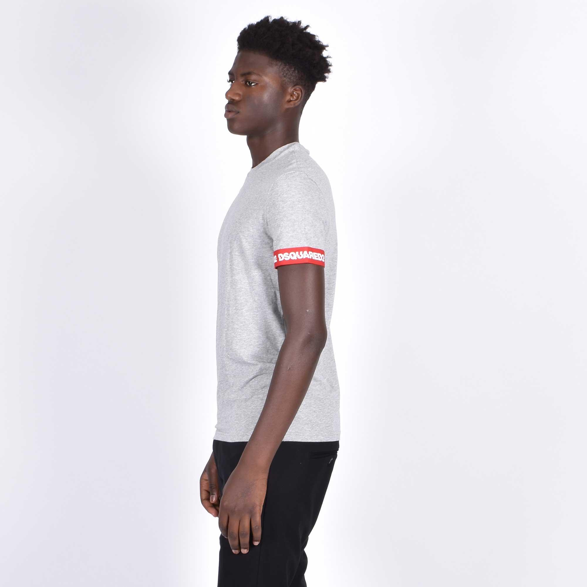 T-shirt logo braccio - Grigio