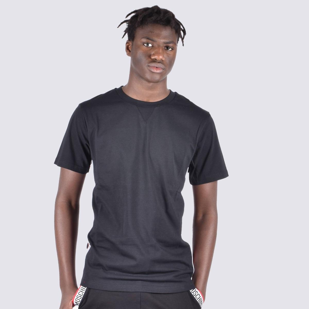 T-shirt fascia logo laterale - Nero