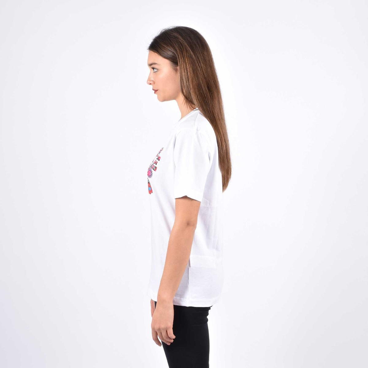 T-shirt logo fiori - Bianco