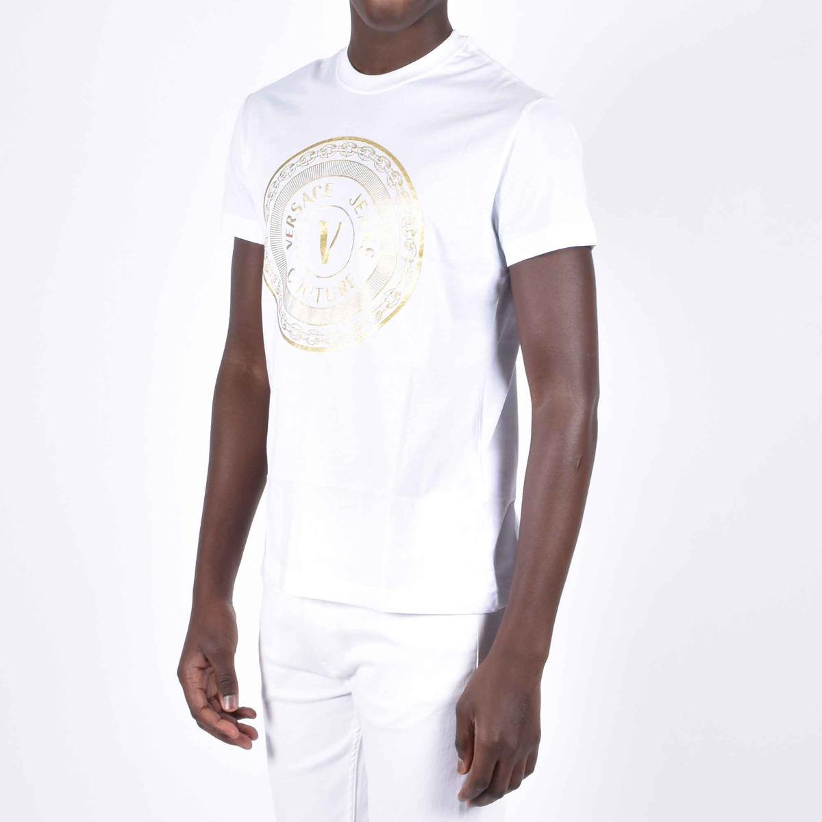 T-shirt logo cerchio - Bianco