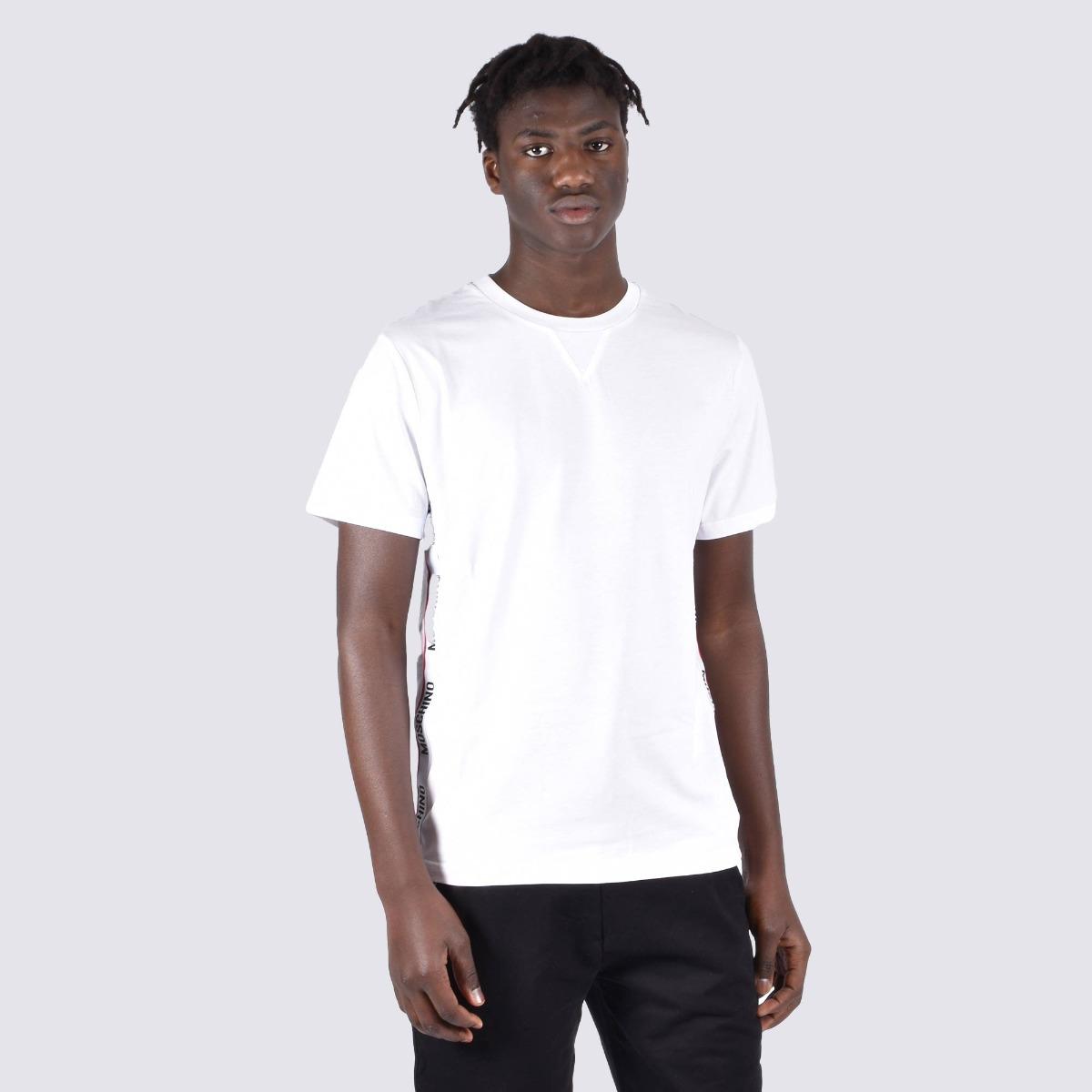 T-shirt fascia logo laterale - Bianco