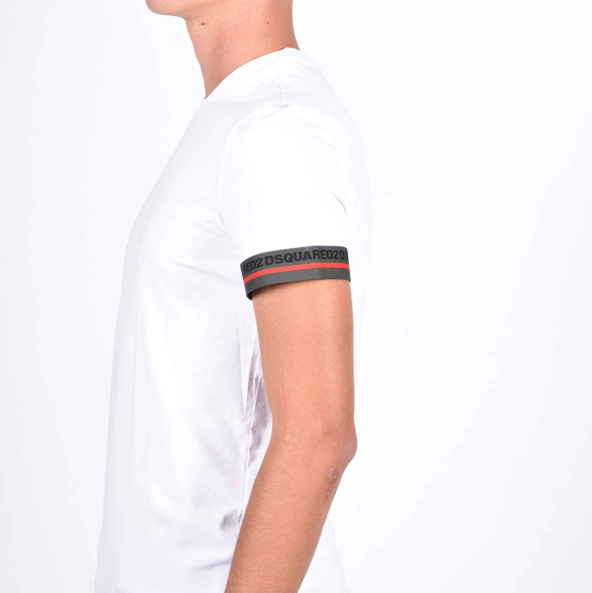 T-shirt fascia manica - Bianco
