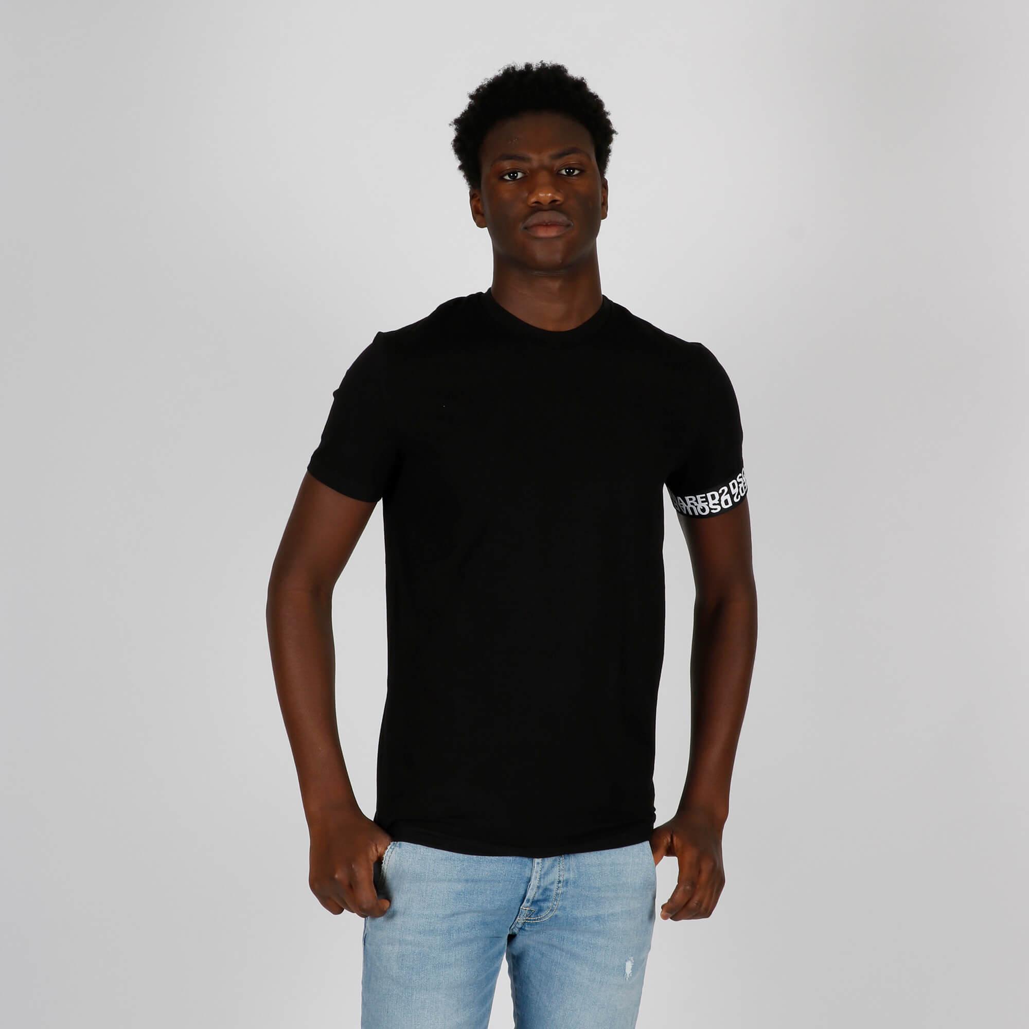 T-shirt logo manica - Nero