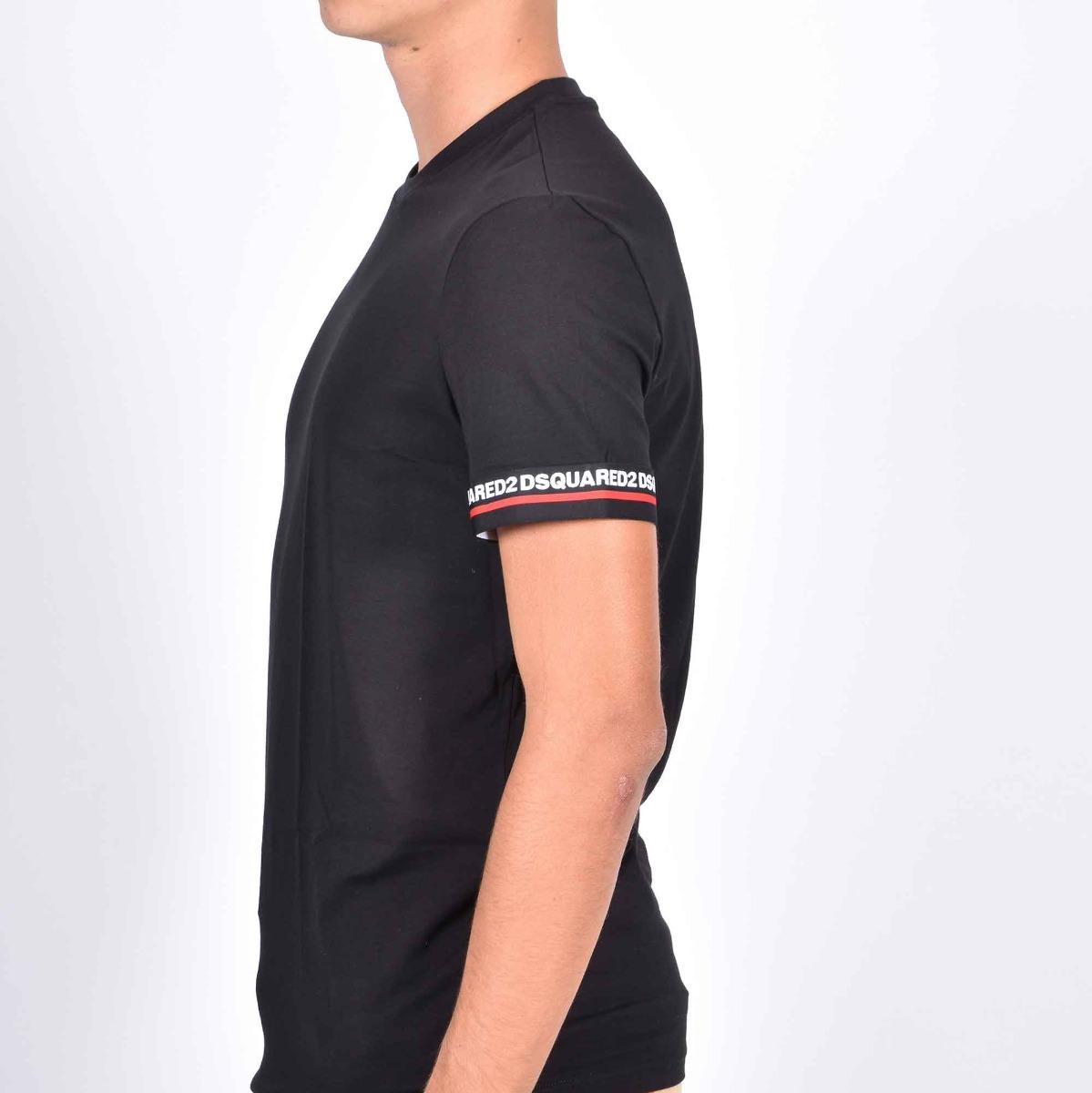 T-shirt fascia manica - Nero