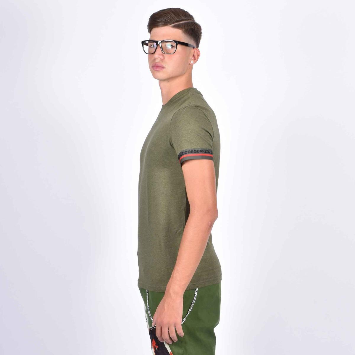 T-shirt fascia manica - Verde