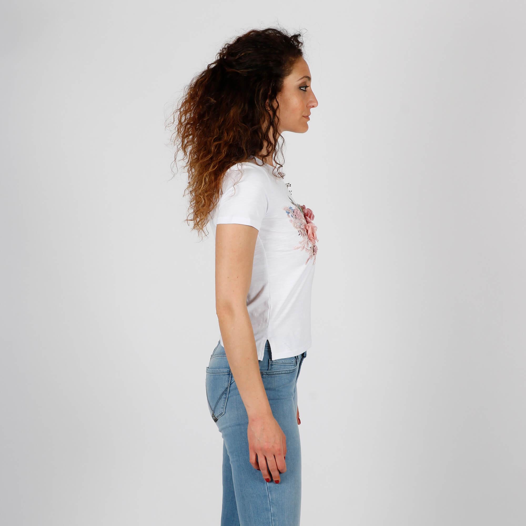 T-shirt i love you - Bianco