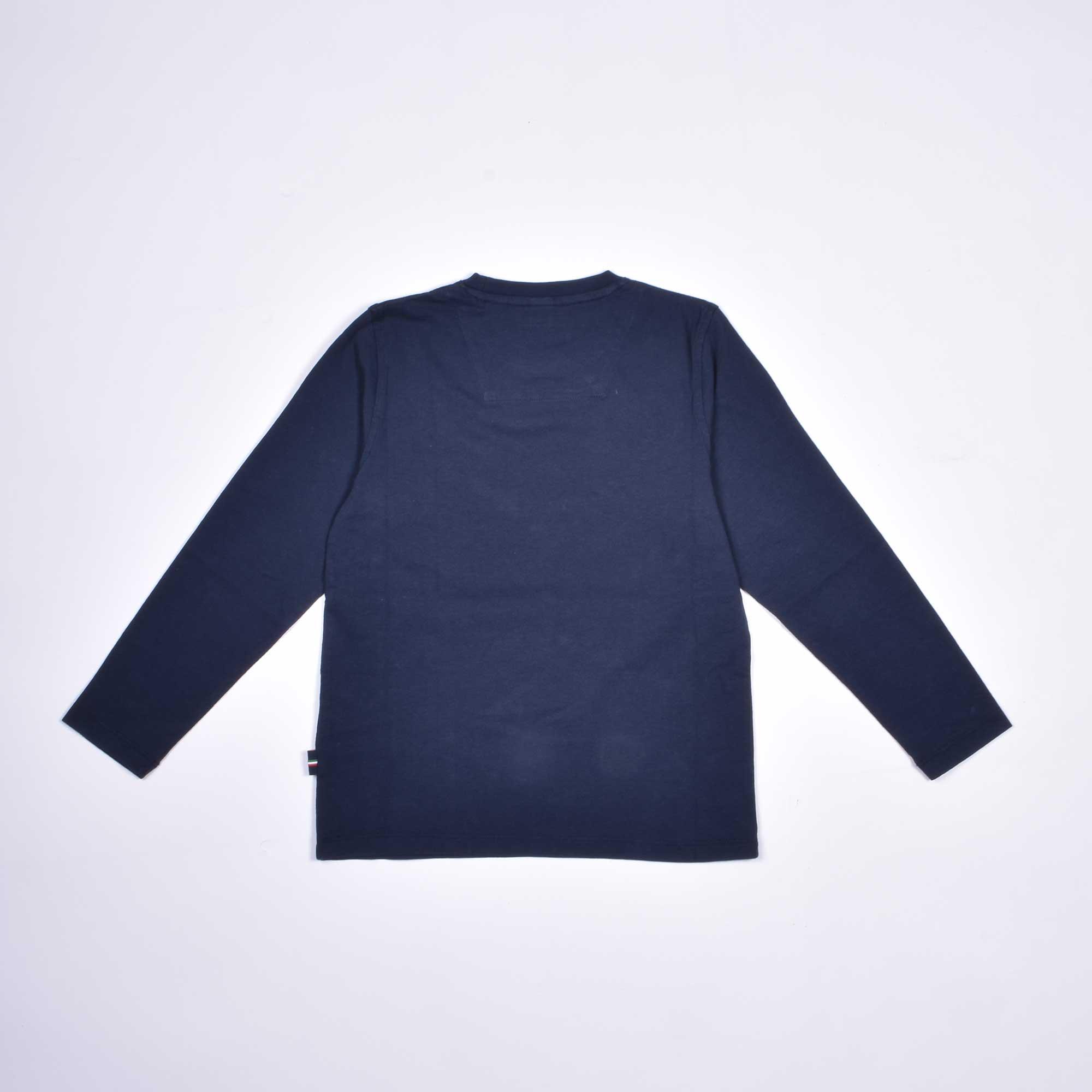 T-shirt ml stampa logo - Blu navy