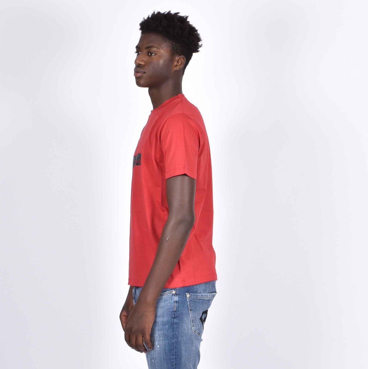 T-shirt monstur - Rosso