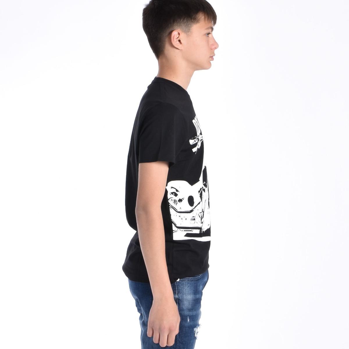 T-shirt stampa moto - Nera
