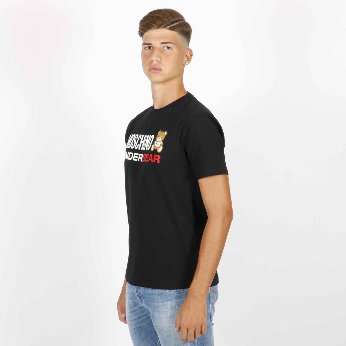 T-shirt logo bear - Nero