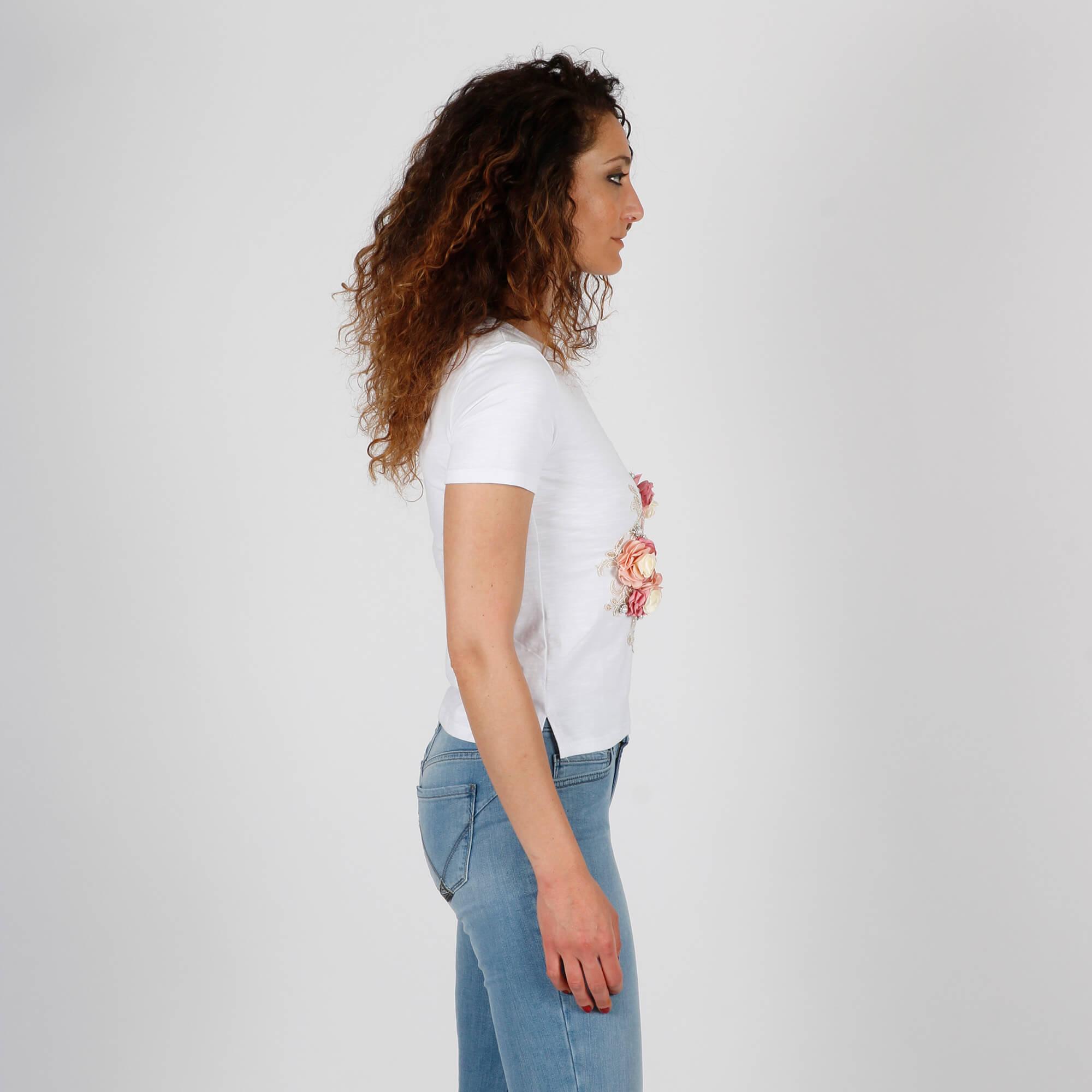 T-shirt borsetta - Bianco