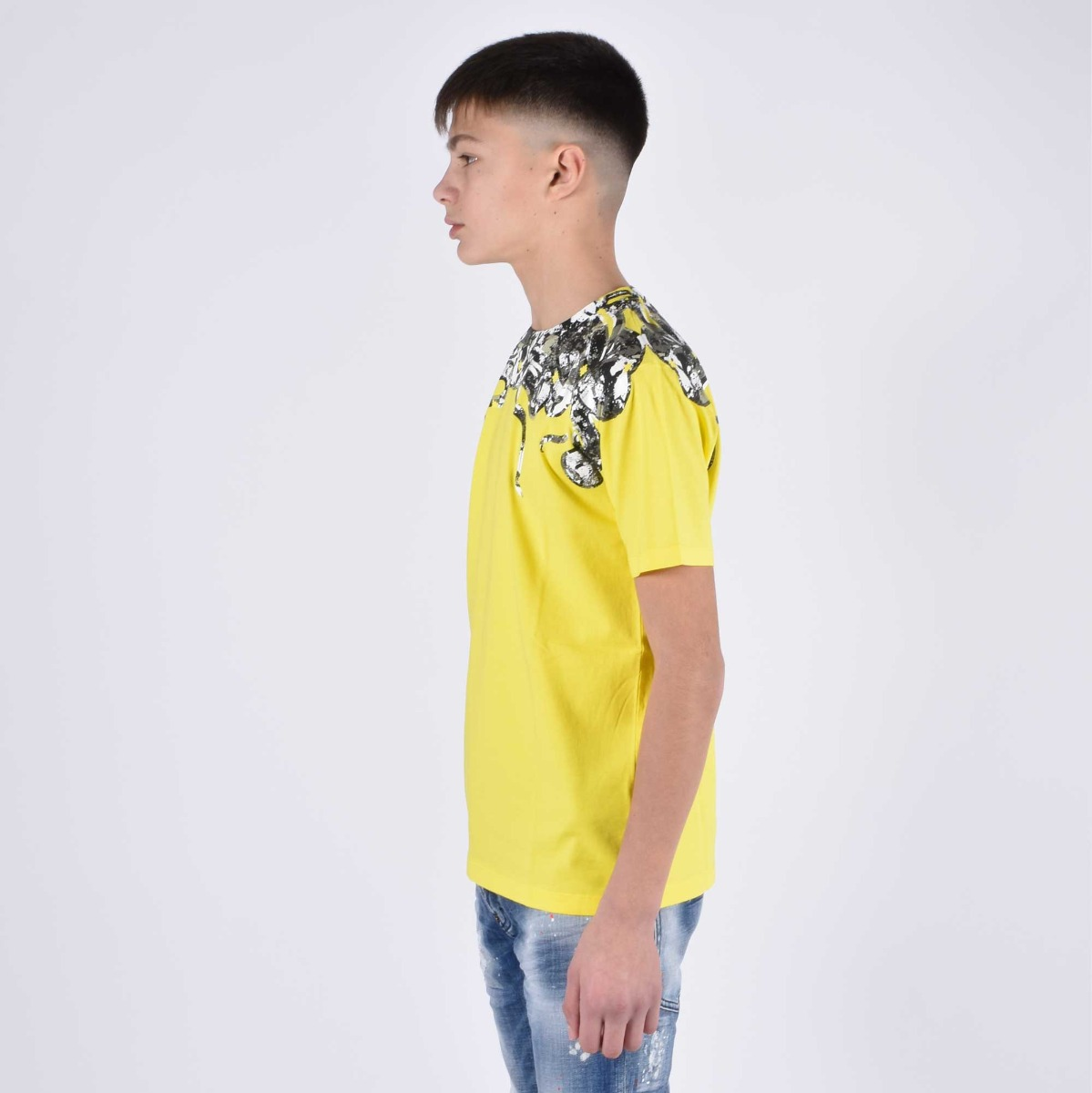 T-shirt stampa serpente - Giallo