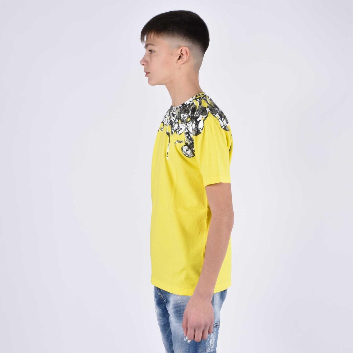 T-shirt stampa serpente - Giallo