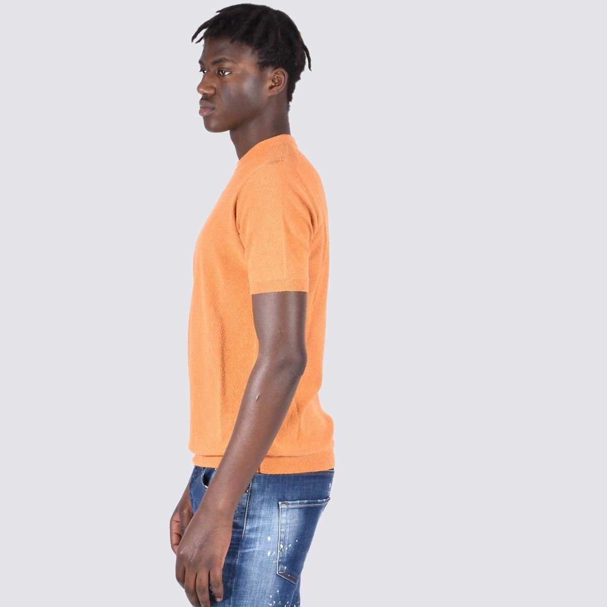 T-shirt effetto spugna - Zucca