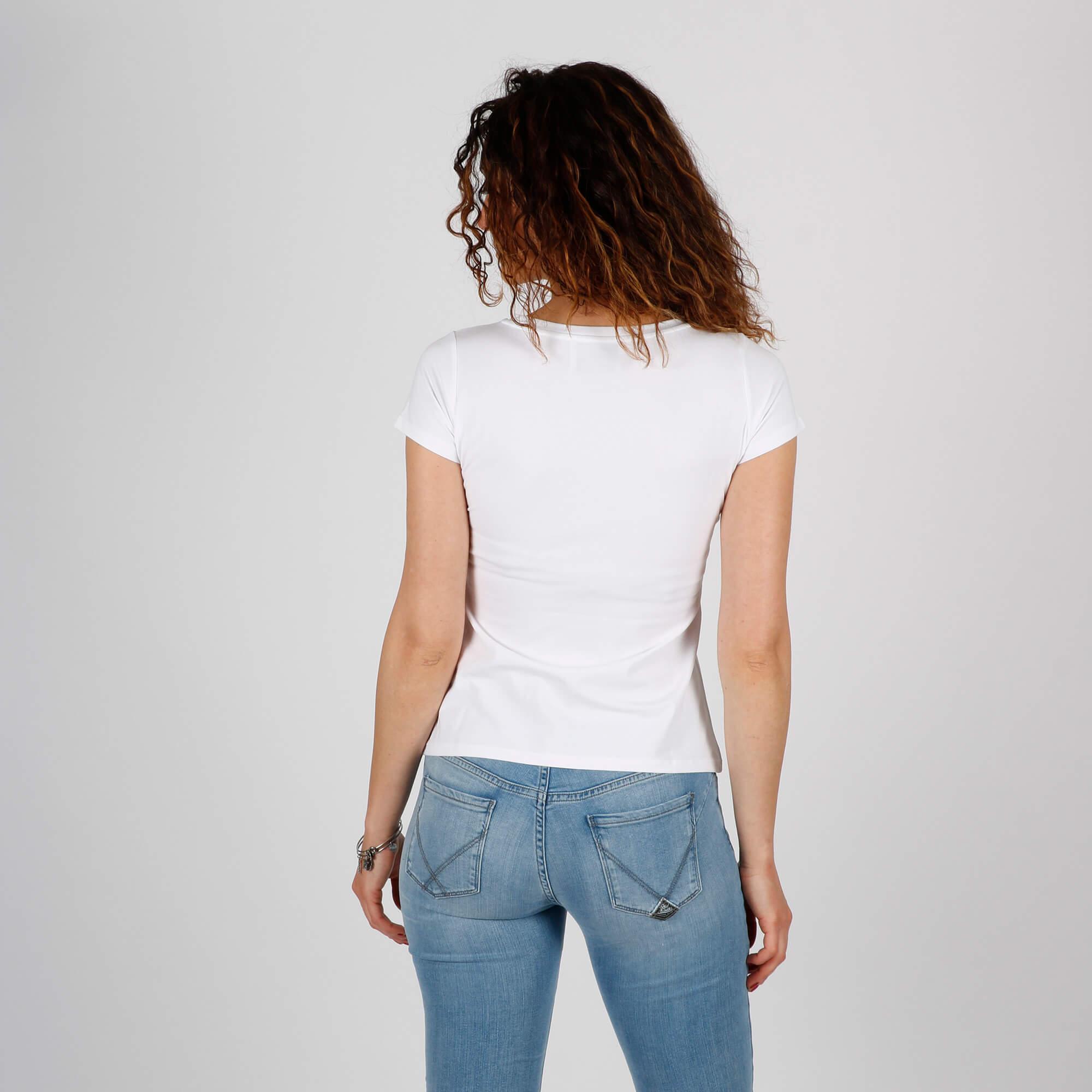T-shirt super girl - Bianco