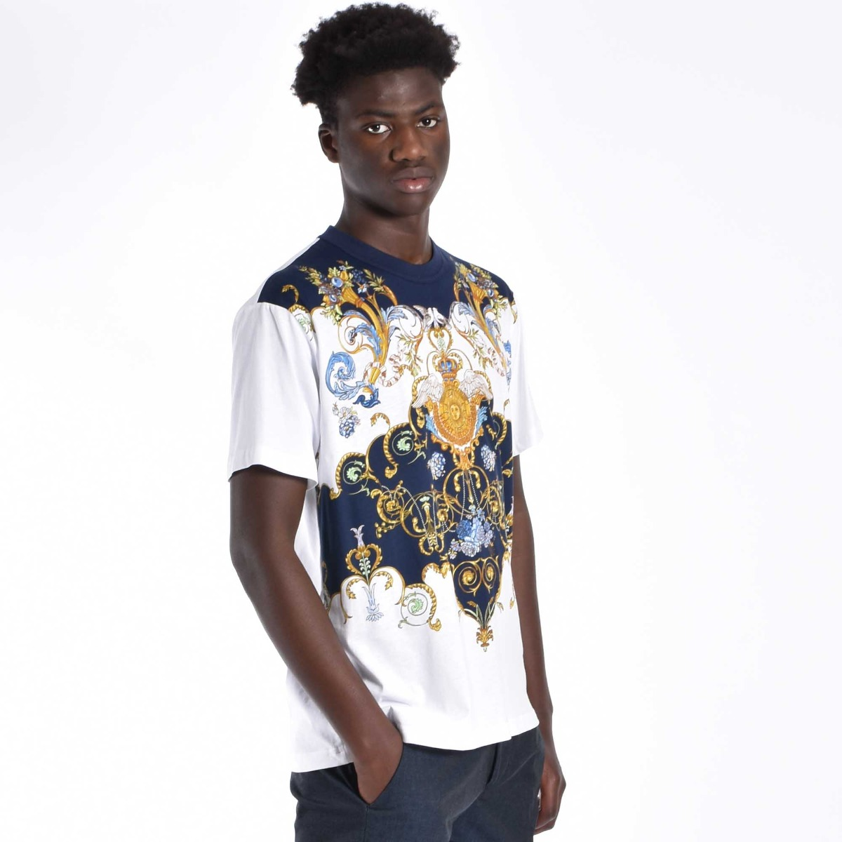 T-shirt super versace - Bianco