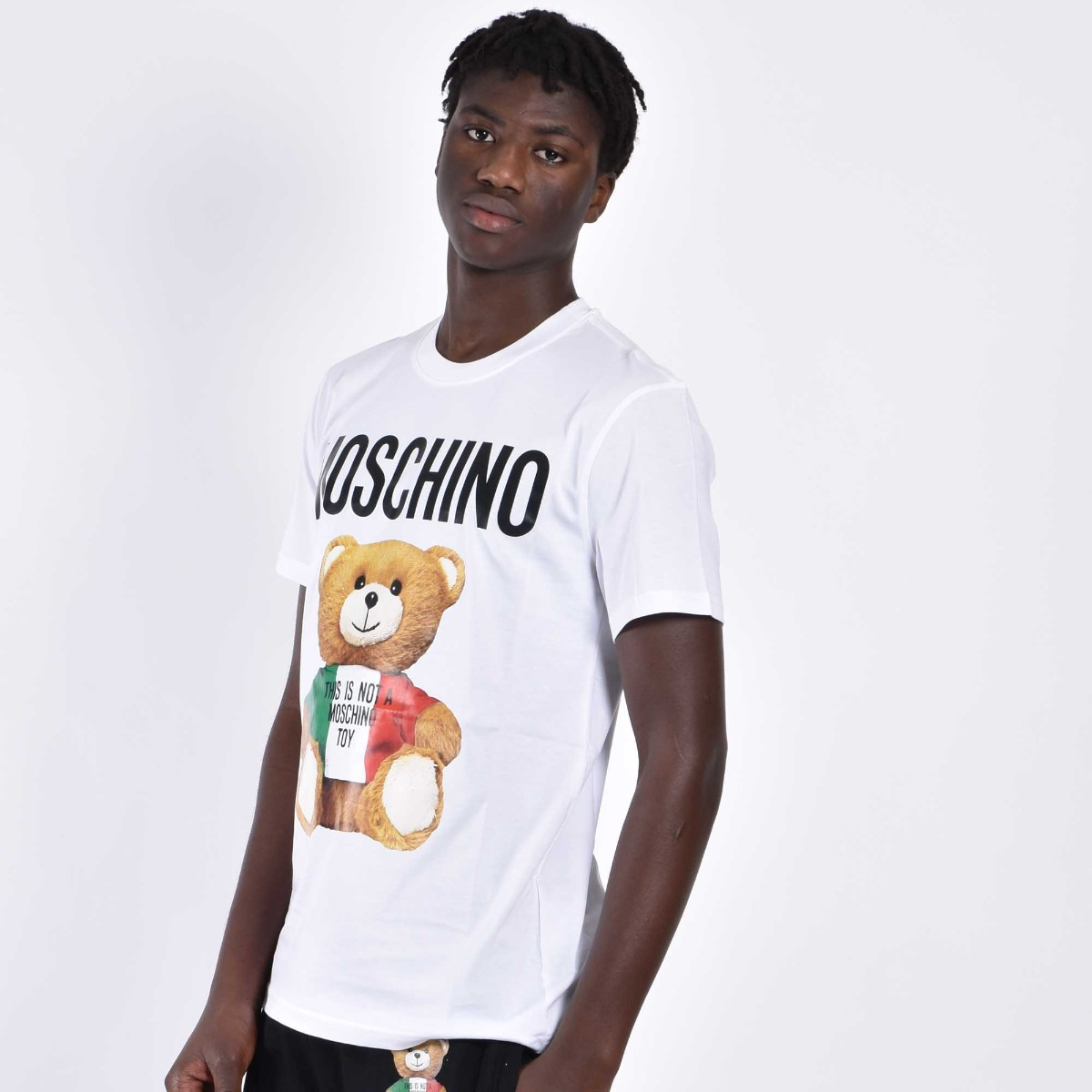 T-shirt orsetto italy - Bianco