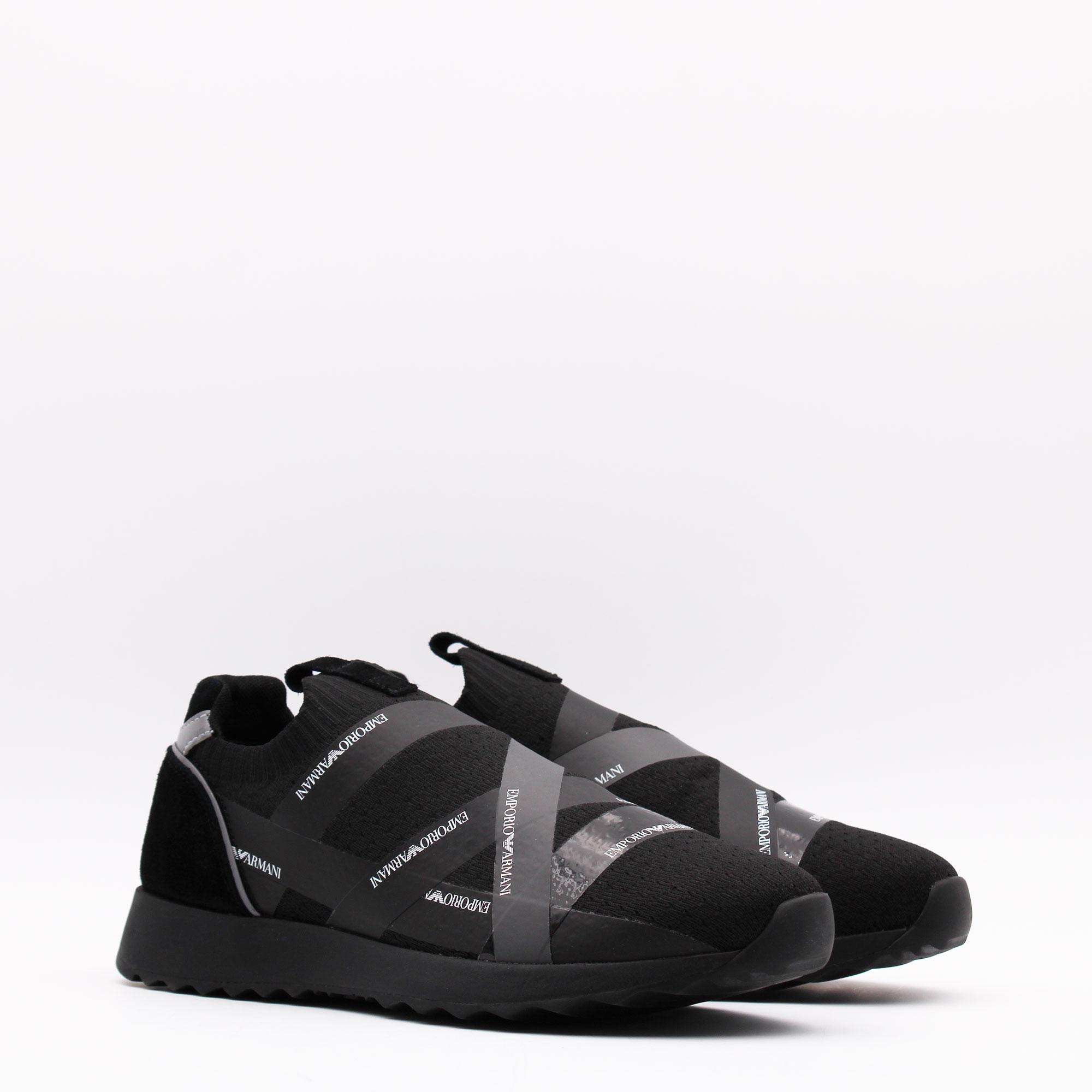 Sneakers fascia logo - Nero
