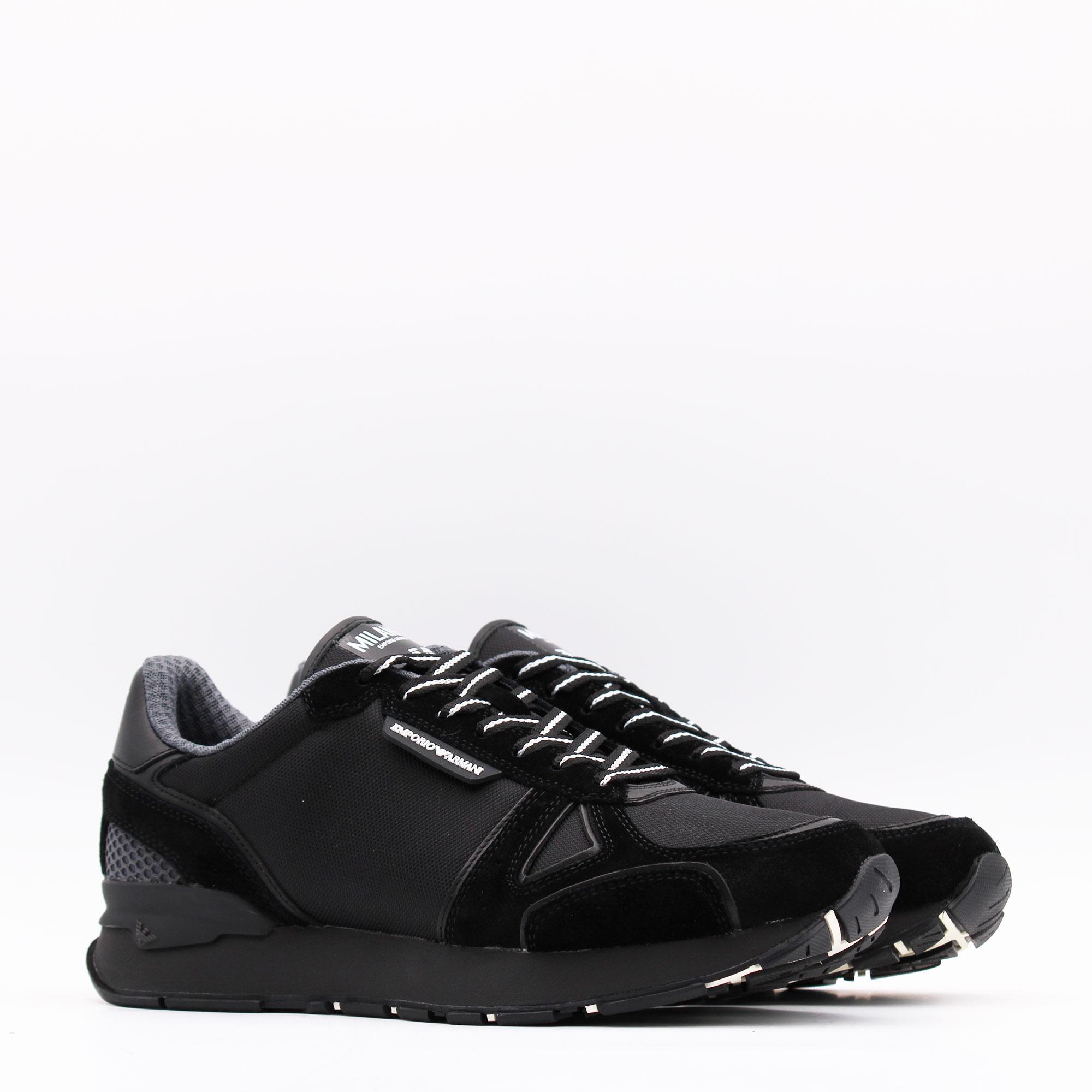 Sneakers logo milano - Nero